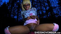 4k Took My Black Step Daughter Msnovember To The Bushes To Fuck, Crawl, And Squirt ShavedPussy For Me Point Of View Sex With Huge Jugs Bouncing With Hard Nipples On Sheisnovember