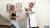 WANKZ- Sexy College Blonde Trisha Exploited at Doctors