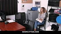 Case No. 6512433 Suspect is a blonde woman. She identifies herself as Scarlett Fall - FULL SCENE on http://ShoplyfterXXX.com