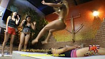 Real Big Butts Over Her Friend Face in Sofa and Squeeze Jump