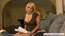 Gorgeous housewife Krissy Lynn fuck a large cock in POV
