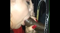 Rae Lynn get mouth full of BBC cum at glory hole
