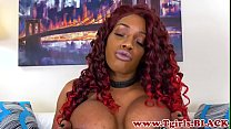 Mature ts ebony shows off her huge cock