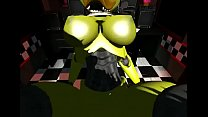 Five Nights at Freddy's Chica Rides Rock Hard Cock