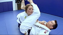 Horny Karate students fucks with her trainer after a good karate session