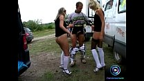Candy and Sindy extreme anal sessions at the van