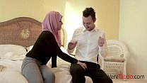 Virgin in HIJAB fucks her stepdad!