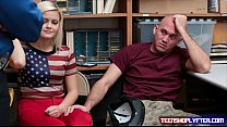 Teen blonde Madison Hart fuck guard for bf freedom