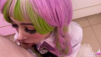 Sexy Cosplay Mitsuri Kanroji Deepthroat and Fuck - Cum Swallow