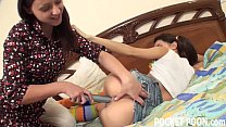 Horny teenager gets caught toying her pussy