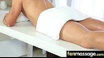Massage Girl Sucks the Tip for a Tip 18