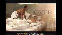 ORGASMS Two cumshots for sexy blonde