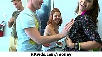 Sexy girls fucking for money 9