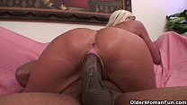 Soccer milf gets trashed by thick black cock