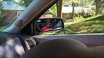 Round Ass Bitch Sucking Dick in Car