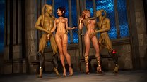 3D Elf Princesses Got Gangbanged!