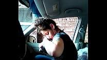 crazy head in car