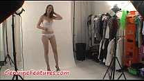 Real backstage with sexy czech teen