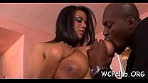 Big tittied dark woman screwed hard by her ebony boyfriend