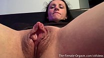 Horny Body Builder Kora Angel Rubs Giant Clit And Wet Pussy To Contracting Orgasm