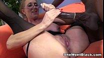 Sexy Cougar Jenna Covelli seduces two big black cock studs