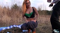 Naïve Blonde Rammed Outdoors and Filmed for the First Time