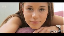 Elegant legal age teenager in a softcore play