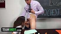 InnocentHigh - SchoolGirl (Natalie Monroe) Fucks Her Teacher!