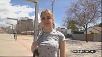 Public sex with hot blonde teen