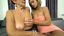Granny Malya and her much younger friend's fresh pussy