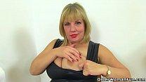 English milf Lelani dildo fucks her insatiable fanny