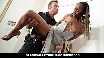 BlackValleyGirls - Hot Black Girl (Misty Stone) Gets Caught By Officer