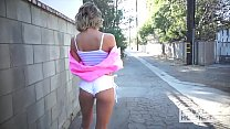 Pretty petite blonde Emma Hix gets fucked into a mess by date