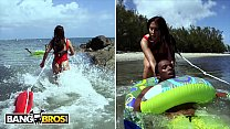 BANGBROS - Charlie Mac Gets Into Hot Water, Lifeguard Valerie Kay Saves The Day