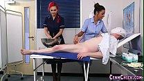 Kinky cfnm nurses sucking