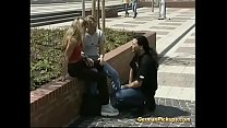 horny young german couple picked up from street