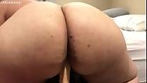 Big Ass Latina Riding Dildo