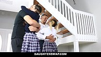 DaughterSwap - Naughty School Girls (Ally berry) (Freya Von Doom) Fucked By Old Dads
