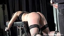 Whipped Louise in amateur spanking to tears and private submissives hellpain
