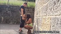 Horny Couple Couldn't Wait to Get Home