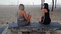 Sacanagem em Copacabana Novinha Lunna Real e Monique Lopes com Dj Jump