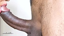 Desi girl Closeup Throbbing Oral Creampie Ended by a Long Cumming