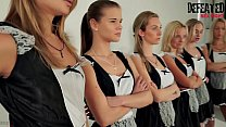 6 Girls Orgy Sexfight For The Alpha Female Maid
