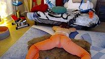 Yoga in sheer pants