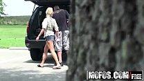 Teen (Skyla Paris) gets filmed on hidden cam fucking in the woods - MOFOS