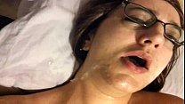 Vanessa Cox Sloppy blowjob w/facial while masturbating