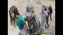 Dangerous Mexican Coed Rough Fucked By BorderGaurd