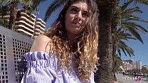 GERMAN SCOUT - Magaluf Urlauberin Candice für Geld am Strand gefickt bei Strassen Casting