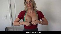 Horny Big Tits MILF Step Mom Cory Chase Seduces Her Step Son Outside Orgasms On His Big Cock POV