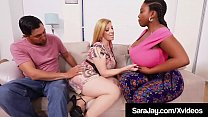 PAWG Mommy Sara Jay Milks A Cock With Black BBW Maserati!